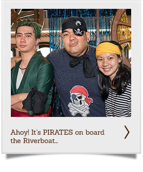 Pirates on board the Riverboat