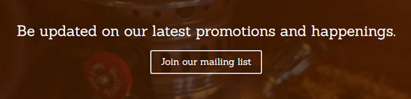We have a monthly secret deal for you - Join our mailing list