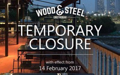 Temporary Closure of Wood & Steel Gastrobar