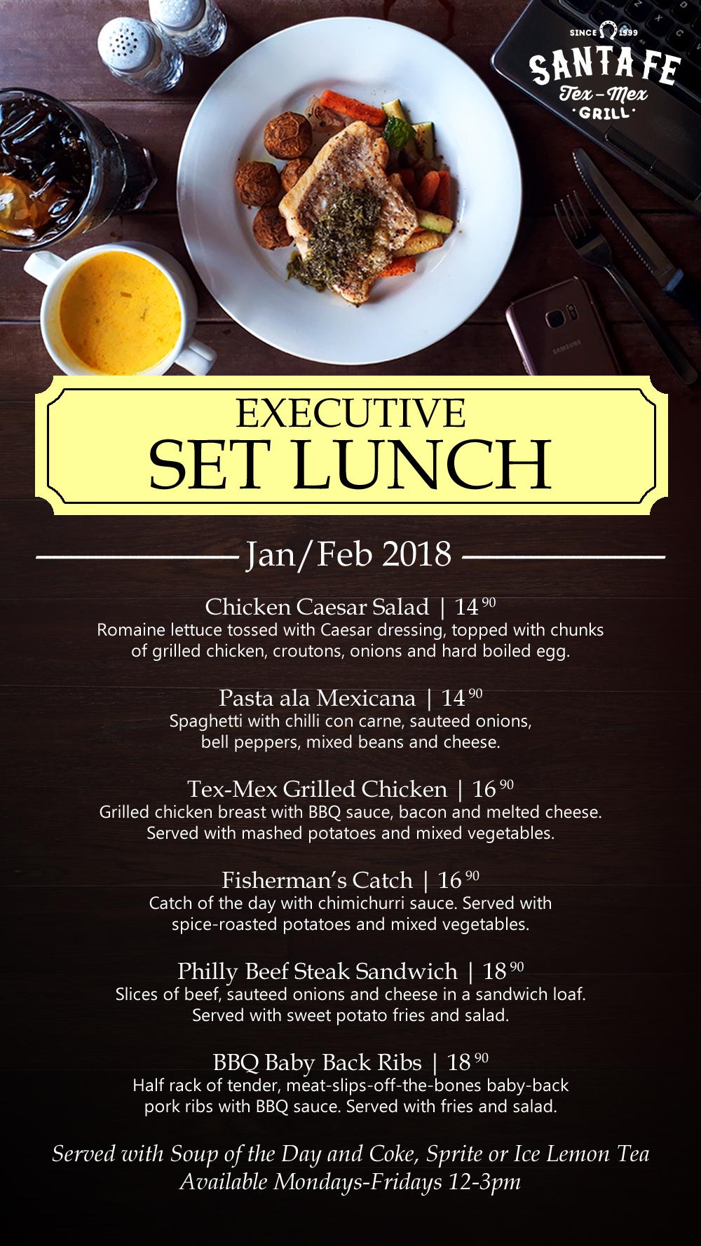 Santa Fe Executive Set Lunch