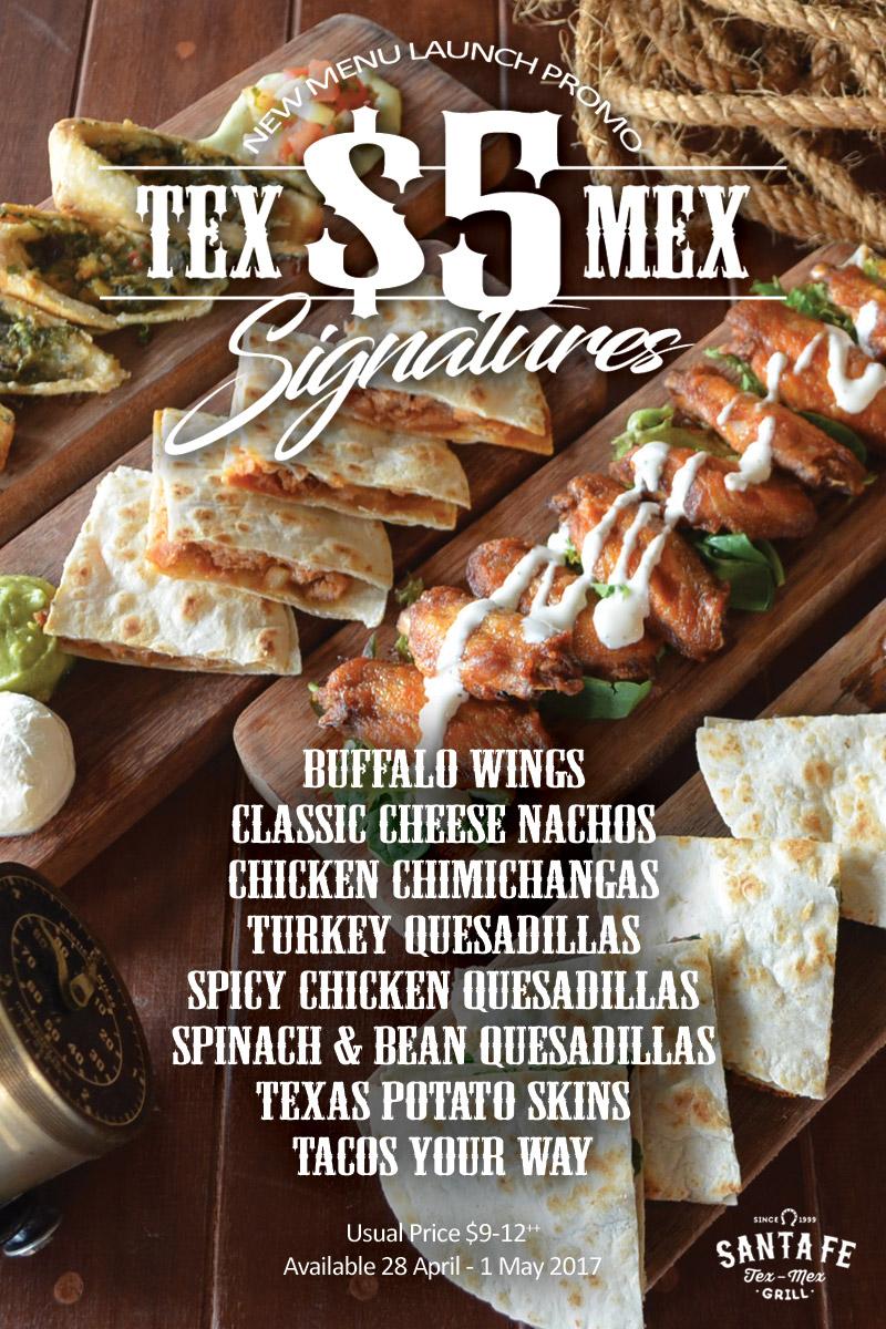 Santa Fe $5 Tex-Mex Signatures