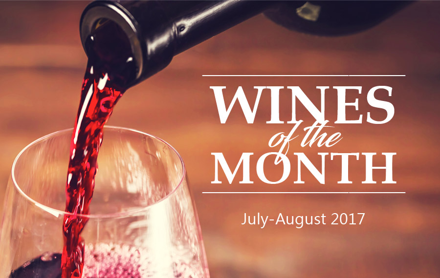 Wines of the Month July Aug 2017