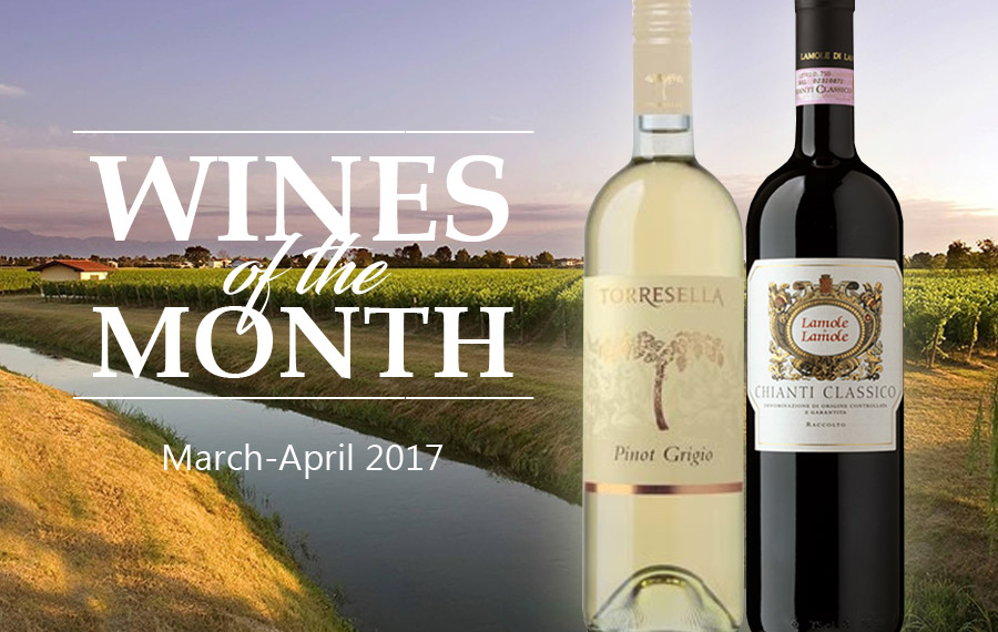 Wines of the Month, March-April 2017
